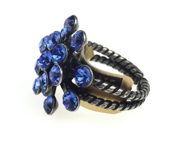 Konplott Magic Fireball 16 Stein Ring in sapphire 5450527611725