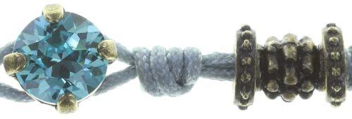 Konplott Festival Armband grau/blau Messing 5450543746609
