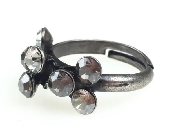 Konplott Magic Fireball 8 Stein Ring in crystal satin/ crystal silver shade 5450527778398