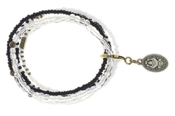 Konplott Petit Glamour d'Afrique Armband in weiß antique 5450543870540