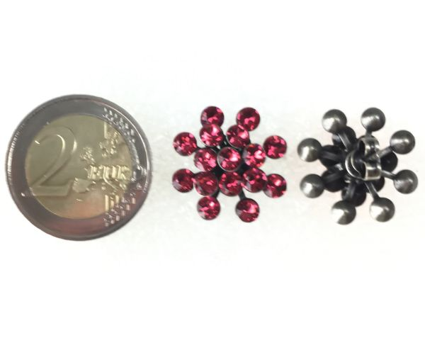 Konplott Magic Fireball Ohrstecker klassisch in indian pink, rot/pink 5450527767309