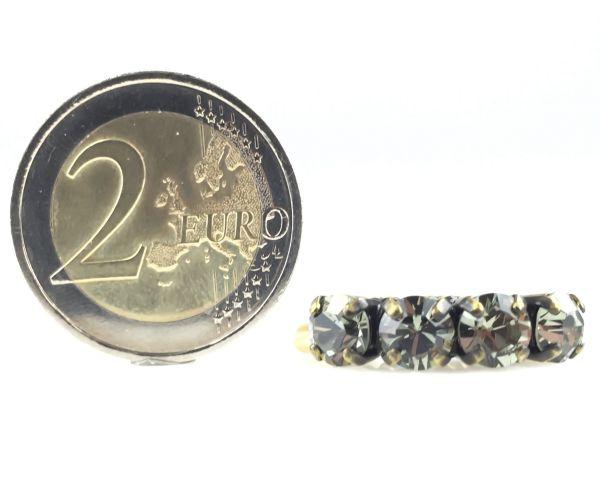 Konplott Colour Snake Ring in Black Diamond, kristall schwarz 5450527132558