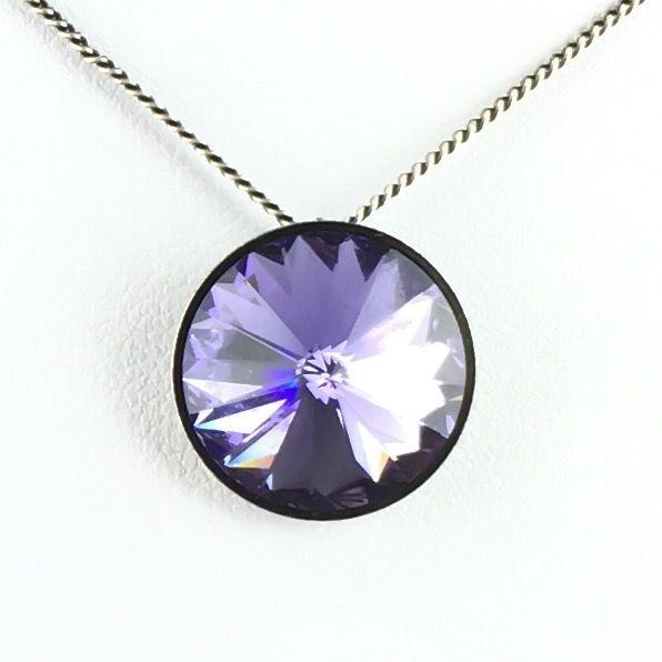 Rivoli lila Halskette mit Anhänger