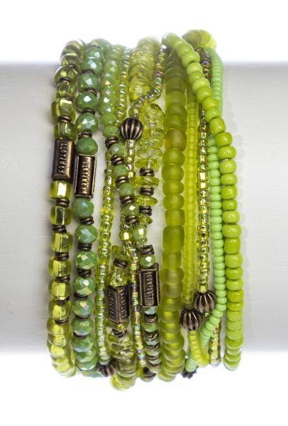 Konplott Petit Glamour d'Afrique Armband in grün antique 5450543856698