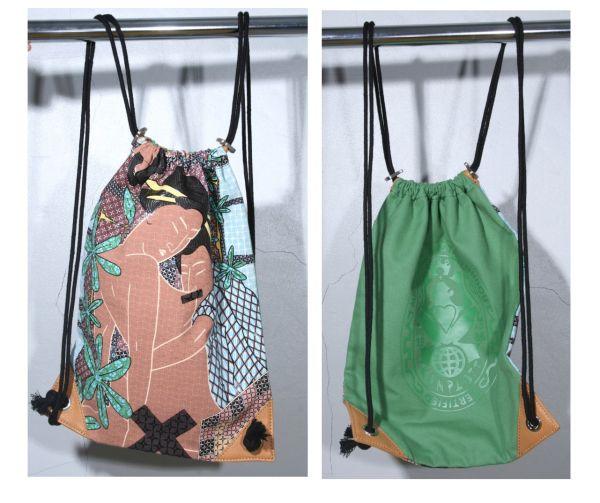 Konplott Soft back pack courtisanes in grün/braun - NEU 5450527863414