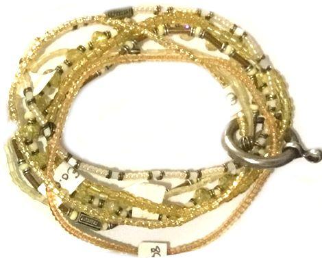Konplott Petit Glamour d'Afrique Armband in gelb 5450543786179