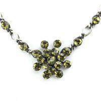 Vorschau: Konplott Magic Fireball Halskette steinbesetzt mit Anhänger in khaki 5450527640275