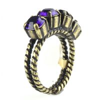 Konplott Colour Snake Ring in Purple Velvet, dunkellila 5450527552806