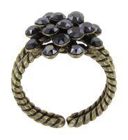 Vorschau: Konplott Magic Fireball Ring in black jet hematite mini 5450543914855
