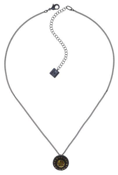 Konplott Rock 'n' Glam Halskette mit Anhänger in black gun metal 5450543777887