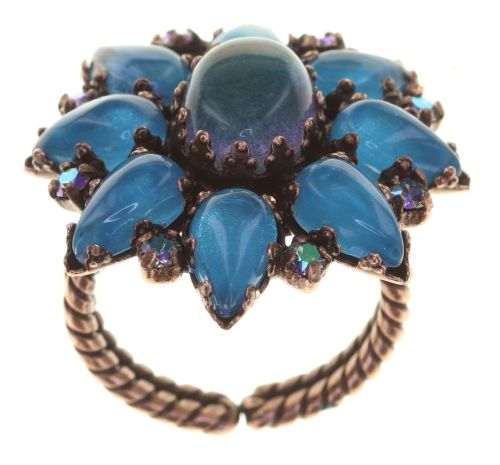 Konplott Mary Queen of Scots Ring Blue Flame 5450543897691