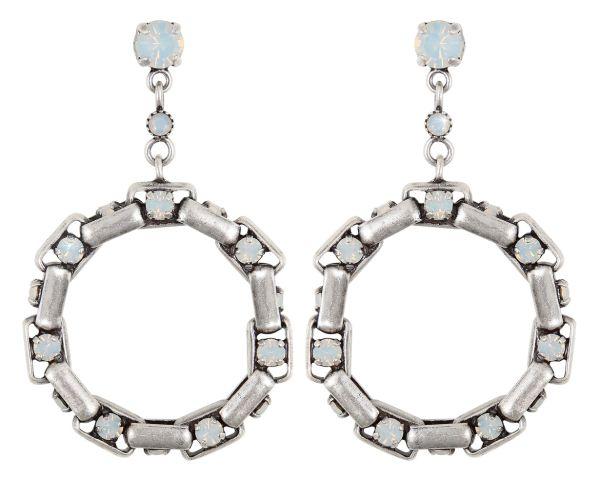 Konplott Industrial Ohrringe hängend in opal weiß 5450543853963