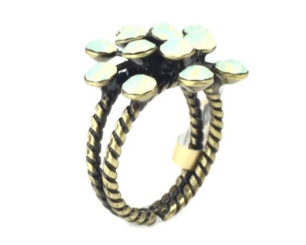 Konplott Magic Fireball chrysolite grün opal 16 Stein Ring 5450543133690