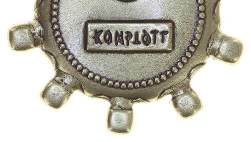 Konplott Striptease Brosche in schwarz/weiß Größe M 5450543776361