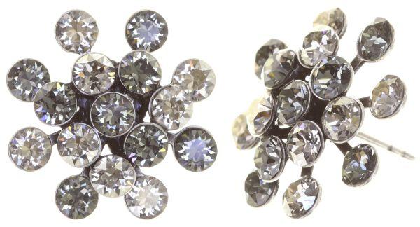 Konplott Magic Fireball crystal satin Ohrstecker kristall, grau 5450527778367