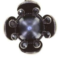 Vorschau: Konplott Petit Fleur de Bloom Ohrhänger in schwarz carbon bloom 5450543799094