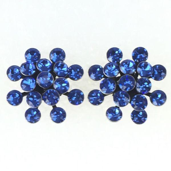 Magic Fireball Ohrstecker klassisch in sapphire, blau