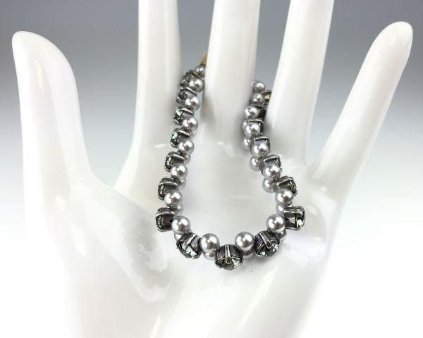 Konplott Pearl Shadow black diamond Armband elastisch (L) 5450543278148