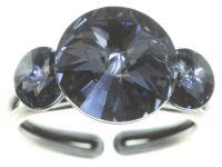 Vorschau: Konplott Rivoli Ring in grau crystal night fall 5450543784946