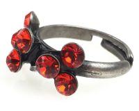Vorschau: Konplott Magic Fireball 8 Stein Ring in hyacinth, rot/orange 5450527640404