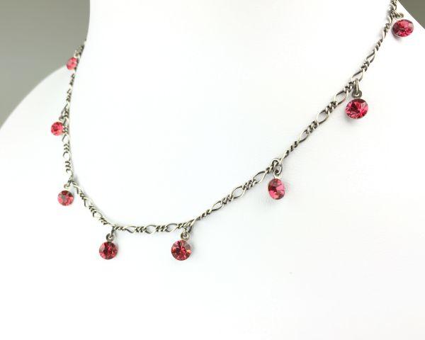 Konplott Tutui indian pink Halskette steinbesetzt, pink/rot 5450527641272