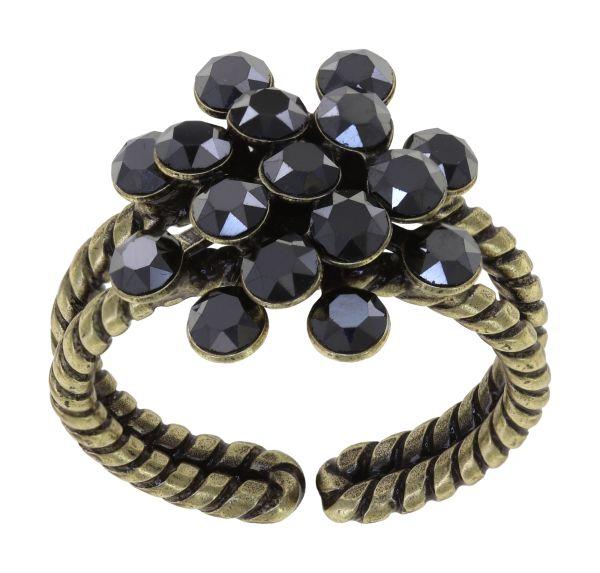 Konplott Magic Fireball Ring in black jet hematite mini 5450543914855