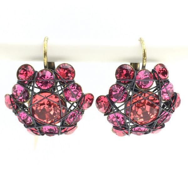 Konplott Bended Lights Ohrhänger mit Klappverschluss in Koralle/ Pink 5450527759427