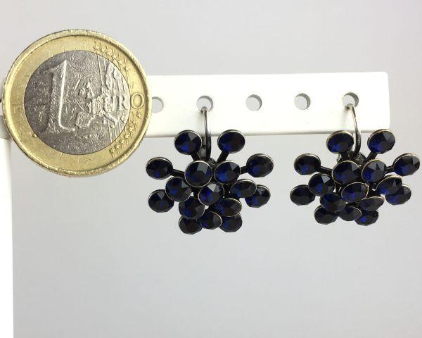 Konplott Magic Fireball Ohrhänger mit Klappverschluss in dark indigo, dunkelblau 5450527611794