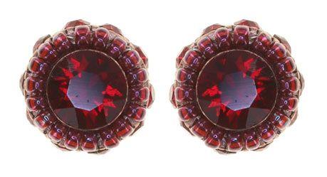 Konplott African Glam Ohrstecker in rot 5450543889306