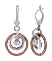Konplott Rings in Concert Ohrhänger Coppered Silver 5450543932736