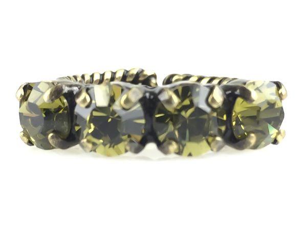 Konplott Colour Snake Ring in Khaki, hellgrün 5450527257060