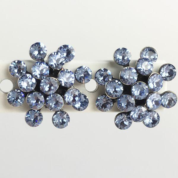 Magic Fireball light sapphire, hellblau Ohrstecker mini