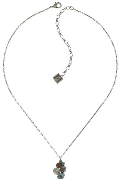Konplott Petit Glamour Halskette mit Anhänger in blau/braun 5450543682563