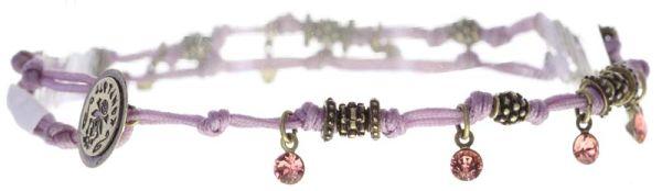 Konplott Festival Anklet Fußkette rosa/lila Messing 5450543746968