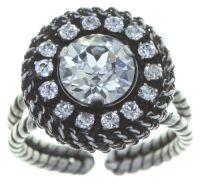 Vorschau: Konplott Rock 'n' Glam Ring in crystal weiß 5450543777023