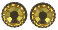 Konplott Black Jack Ohrstecker klassisch klein in yellow sunflower 5450543650104