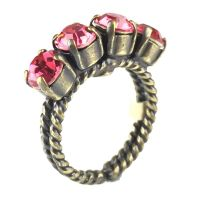 Colour Snake Ring in Indian Pink, pink/rot