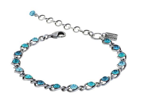 Konplott Magic Fireball Armband in blau/grün Classic Size 5450543904467