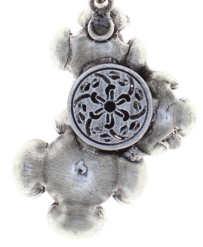 Konplott Petit Fleur de Bloom Halskette mit Anhänger in schwarz carbon bloom 5450543798981