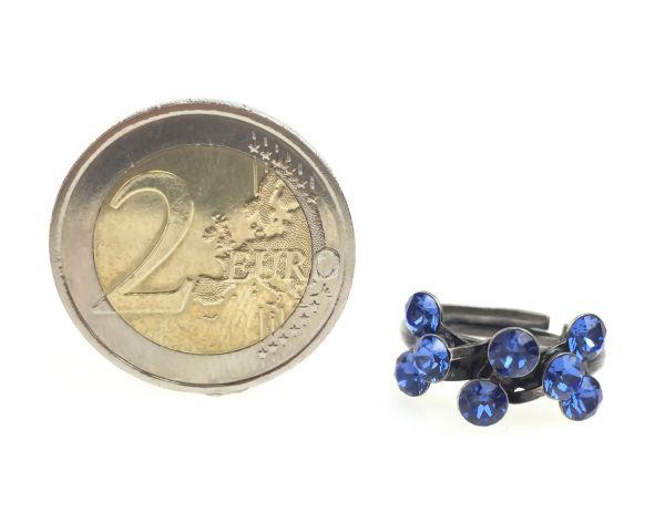 Konplott Magic Fireball 8 Stein Ring in sapphire, blau 5450527611732
