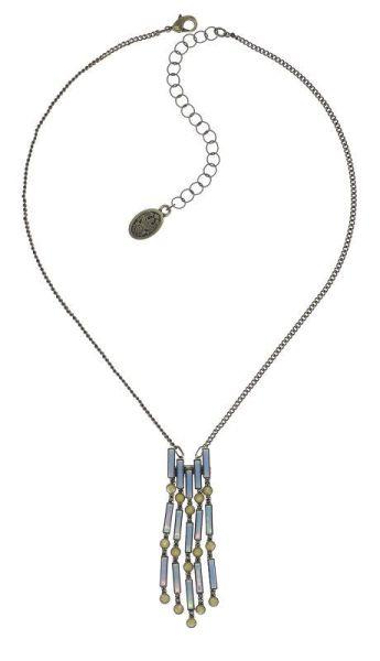Konplott Graphic Flow Halskette in blau/gelb antique 5450543866475