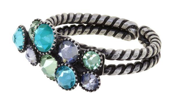 Konplott Water Cascade Ring in Minty Fresh blau/grün 5450543907253