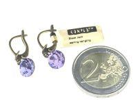 Vorschau: Konplott Black Jack Ohrhänger mit längl. Verschluss in tanzanite, violett 5450527641395
