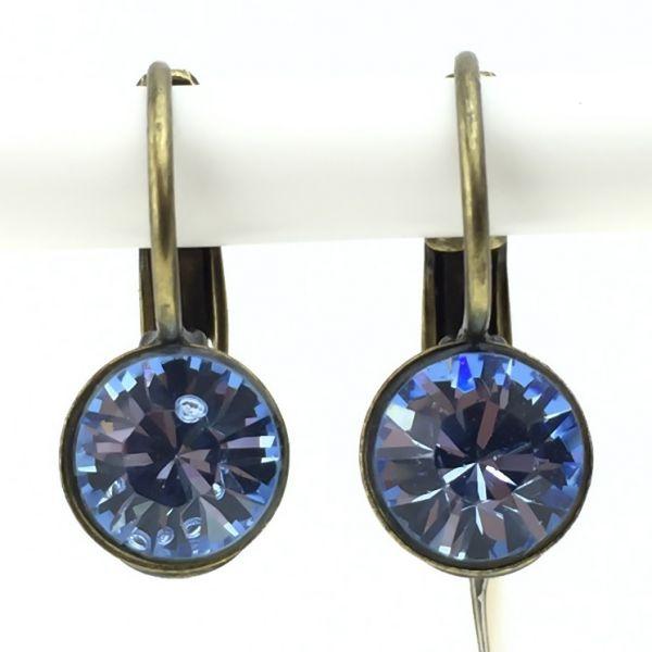 Black Jack Ohrhänger mit Klappverschluss in light sapphire, hellblau