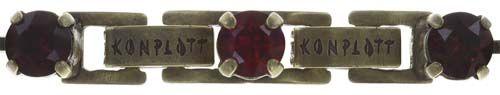 Konplott Colour Snake Armband in dunkelrot 5450543695921