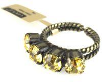 Vorschau: Konplott Colour Snake Ring in Light Topaz, gelb 5450527610056