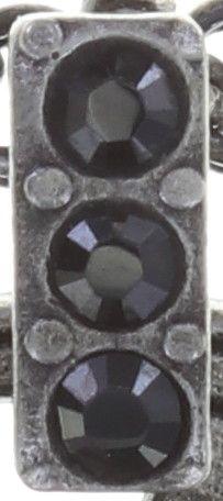 Konplott Rosone Halskette mit Anhänger Größe M in schwarz 5450543654386