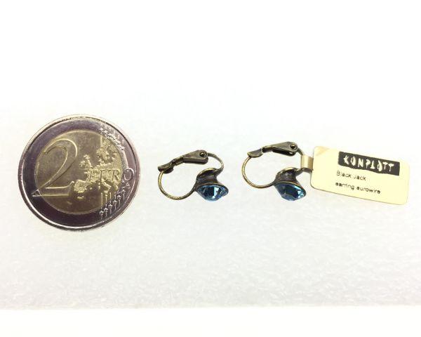 Konplott Black Jack Ohrhänger mit Klappverschluss in Aquamarine, hellblau 5450527110334
