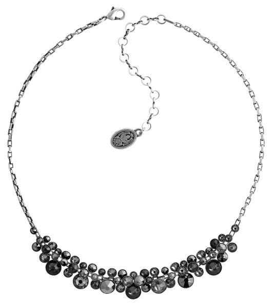 Konplott Water Cascade steinbesetzte Halskette in schwarz 5450543766539