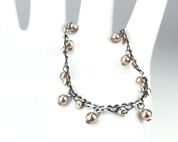 Konplott Pearl Shadow crystal golden shadow Armband verschließbar 5450527598736